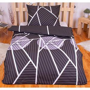 Povlečení mako bavlna AVERI 140x200+70x90 Sweet home dark