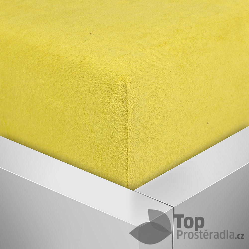 TP Froté prostěradlo Premium 180g/m2 220 x 200 Žlutá