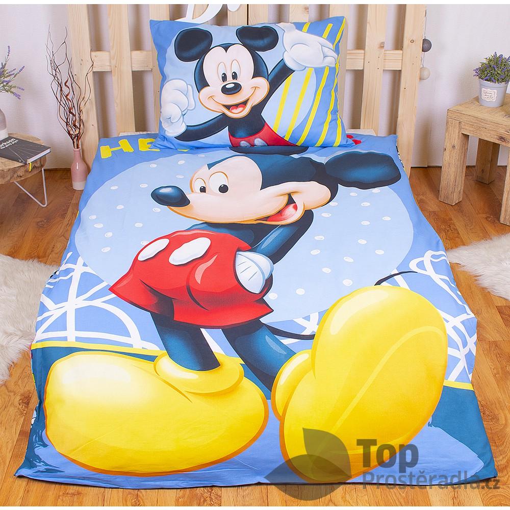 Bavlněné povlečení 140x200 70x90 Mickey Hey