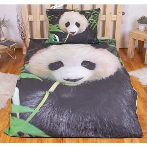 Bavlněné povlečení 140x200+70x90 - Panda
