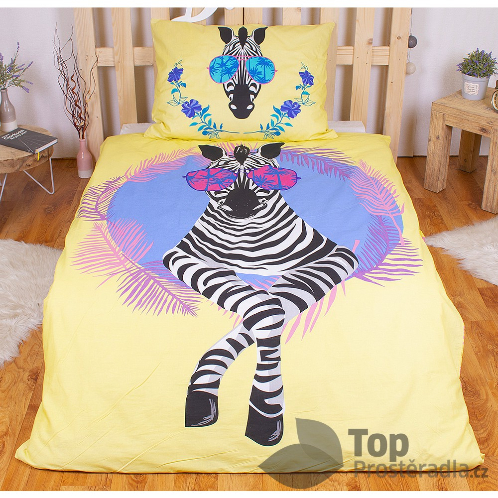 TOP Bavlněné povlečení 140x200+70x90 - Beach Zebra