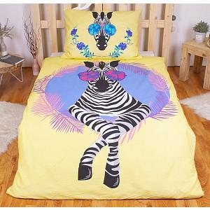 Bavlněné povlečení 140x200+70x90 - Beach Zebra