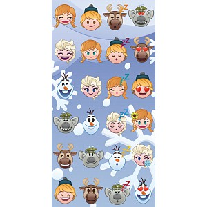Osuška 70x140 - Frozen emoji