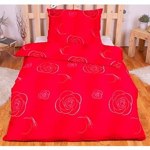 Krepové povlečení ECONOMY 140x200+70x90 - Růže červené