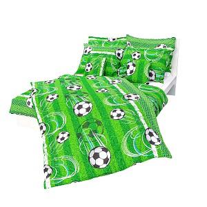 Bavlněné povlečení 140x200+70x90  Fotbalové míče