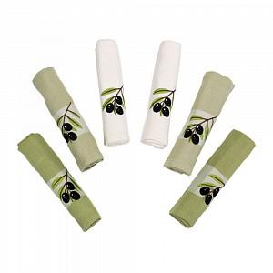 Olives dárkový set - vaflové utěrky 6ks