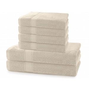 Set luxusních bambusových ručníků a osušek BAMBY 4+2 Krémový