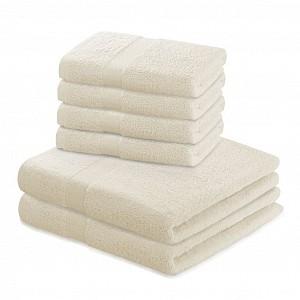 Set luxusních froté ručníků a osušek MARINA 4+2 Krémový