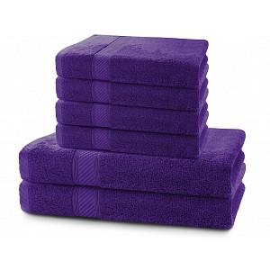 Set luxusních bambusových ručníků a osušek BAMBY 4+2 Fialový