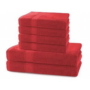 Set luxusních bambusových ručníků a osušek BAMBY 4+2 Červený
