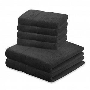 Set luxusních froté ručníků a osušek MARINA 4+2 Černý