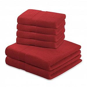 Set luxusních froté ručníků a osušek MARINA 4+2 Červený