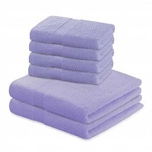 Set luxusních froté ručníků a osušek MARINA 4+2 Lila