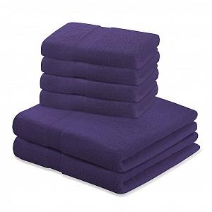 Set luxusních froté ručníků a osušek MARINA 4+2 Fialový