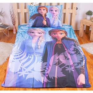Bavlněné povlečení Frozen II Snowflakes 140x200+70x90