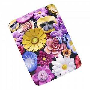 3D Podlahová předložka 50x70 Květiny s motýlem