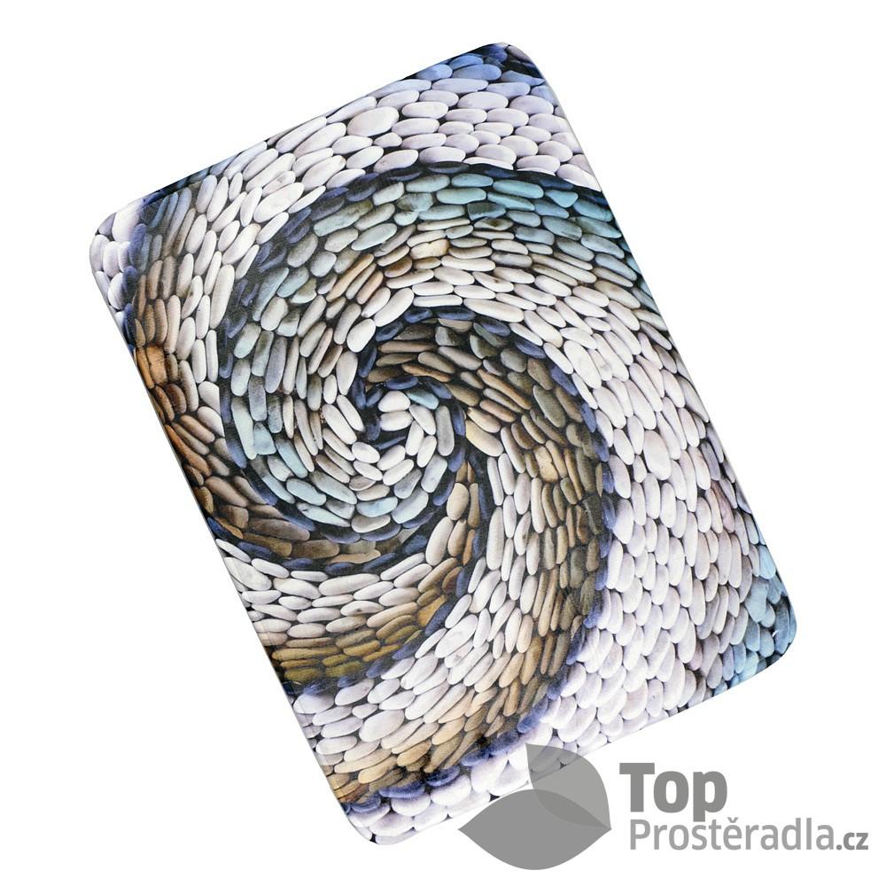 Levně TOP 3D Podlahová předložka 50x70 Spirála oblázky