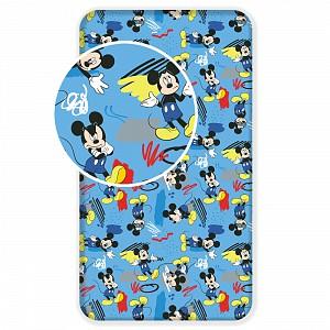 Bavlněné prostěradlo 90x200 Mickey Hey
