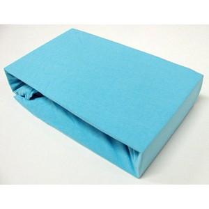 Jersey prostěradlo (160 x 200) Premium - Azurová