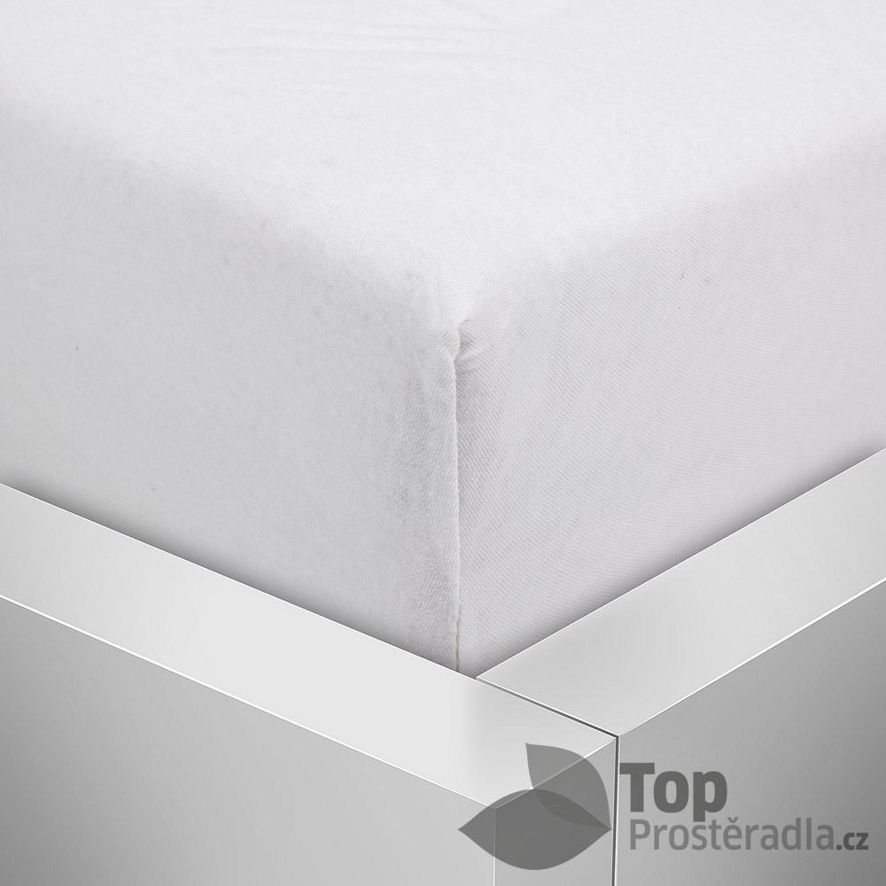 TP Jersey prostěradlo Premium 190g/m2 160x200 Bílá