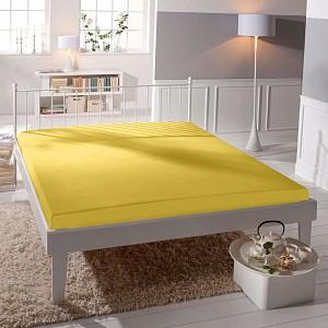 Jersey prostěradlo (160 x 200) Premium - Žlutá