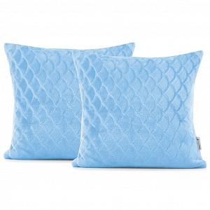 Povlak na polštářek mikroflanel ŠUPINKY 45x45 - Světle modrá