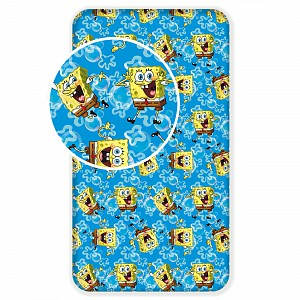 Bavlněné prostěradlo 90x200 Sponge Bob