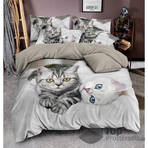 3D povlečení 140x200+70x90+40x40 Kittens