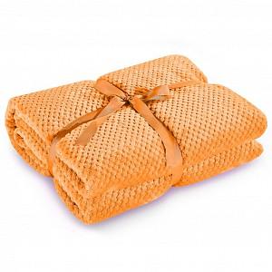 Mikroflanelová deka ŽAKÁR Premium 150x200 - Oranžová
