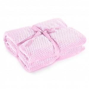 Mikroflanelová deka ŽAKÁR Premium 150x200 - Světle růžová