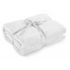 Mikroflanelová deka ŽAKÁR Premium 150x200 - Bílá