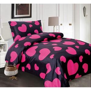 Microtop povlečení Comfort 140x200+70x90 Pink hearts