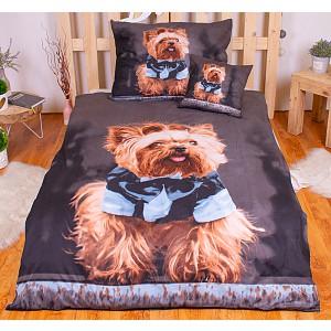 3D povlečení 140x200+70x90+40x40 Yorkshire Terrier