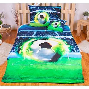 3D povlečení 140x200+70x90+40x40 Fotbalový míč