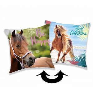 Polštářek s flitry 40x40 Horse Heart