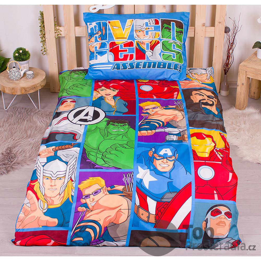 Povlečení z mikrovlákna 140x200+70x90 Avengers
