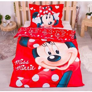 Povlečení z mikrovlákna 140x200+70x90 Minnie Big Red