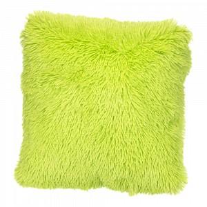 Luxusní povlak na polštářek s dlouhým vlasem 40x40 - Zelená