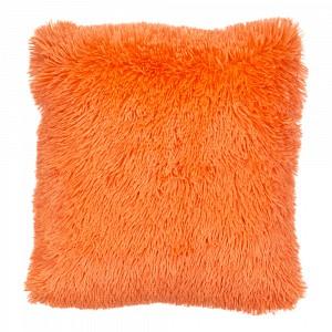 Luxusní povlak na polštářek s dlouhým vlasem 40x40 - Oranžová