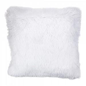 Luxusní povlak na polštářek s dlouhým vlasem 40x40 - Bílá