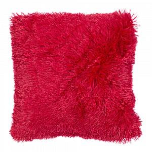 Luxusní povlak na polštářek s dlouhým vlasem 40x40 - Červená
