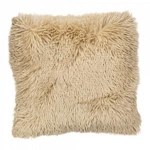 Luxusní povlak na polštářek s dlouhým vlasem 40x40 - Béžová