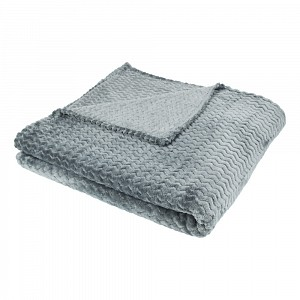 Mikrofaserová deka super soft 150x200 - Tmavě šedá