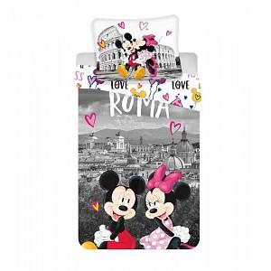 Bavlněné povlečení 140x200+70x90 Mickey a Minnie v Římě