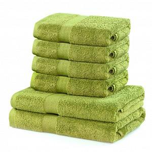 Set luxusních froté ručníků a osušek MARINA 4+2 Žlutozelený