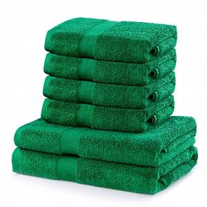 Set luxusních froté ručníků a osušek MARINA 4+2 Zelený