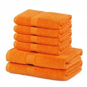 Set luxusních froté ručníků a osušek MARINA 4+2 Oranžový