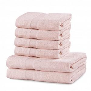 Set luxusních froté ručníků a osušek MARINA 4+2 Růžový