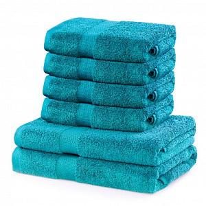 Set luxusních froté ručníků a osušek MARINA 4+2 Tyrkysový