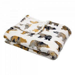 Mikroflanelová deka premium 150 x 200 - Pictures - Medvěd
